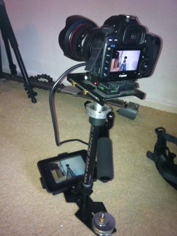 Steadicam monitor low mode
